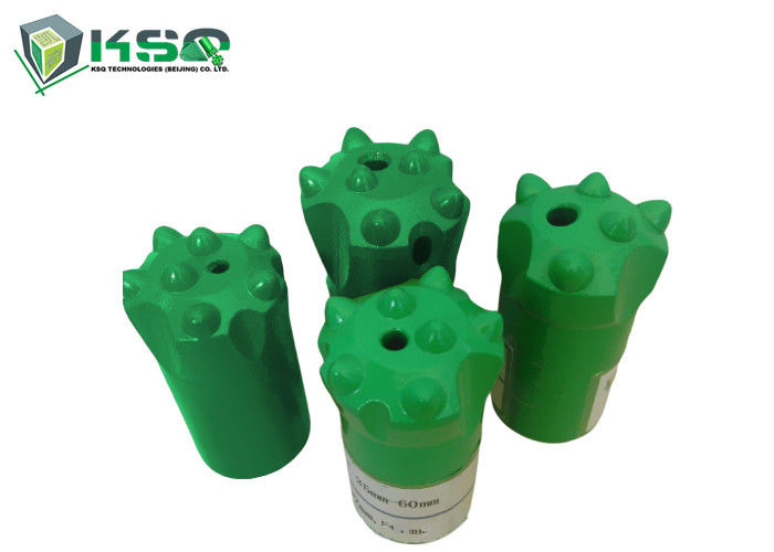 Rock Drilling Tapered Button Bits 32-42mm With Short / Long Skirt