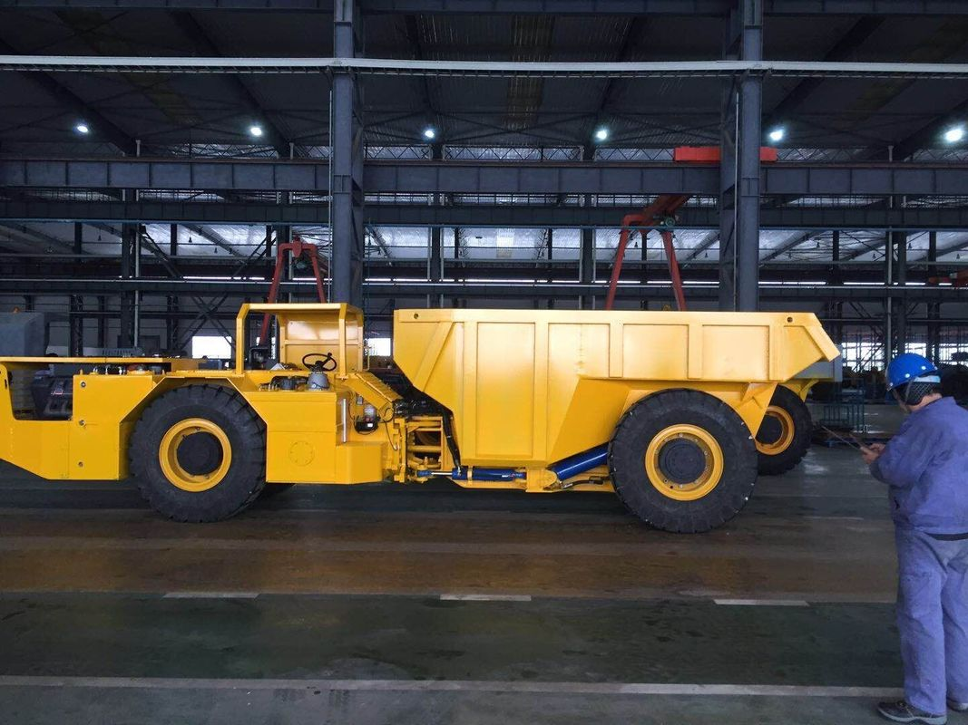 Diesel Centrally Articulated Low Profile Dump Truck 12tn For Underground Mining